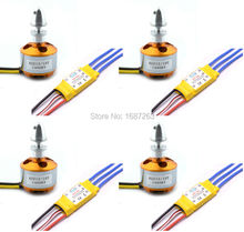 4pcs A2212 A 2212 1000KV 1200KV 1400KV Brushless Motor + 4pcs XXD 30A ESC for Multicopter 450 X525 Quadcopter(China)