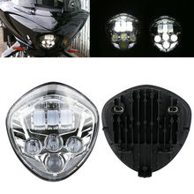 60W Motorcycle LED Headlight High-intensity Cross Country LED Hi/Lo beam For Victory 10-16 CROSS,07-16 CRUISERS