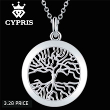 3 28 S festival silver chic pendant necklace Fashion Tree of life God mother Religion collares populares 18inch jewelry 925