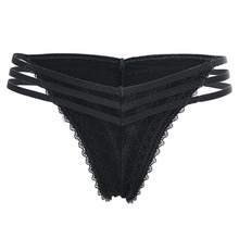 Buy CALOFE 1pcs/Lot Women's underwear sexy lace Women's Sexy lingerie Thongs G-string Underwear Panties Briefs Ladies T-back