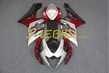 Silver red Black Injection Fairing Body Work Frame Kit for SUZUKI GSXR 1000 GSXR1000 K5 2005 2006(China)