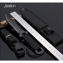 Jeslon Creative Small Straight Knife Cold Steel Tactical Hunting Hiking Knife Outdoor Rescue Camping Pocket Knives Handle Knife