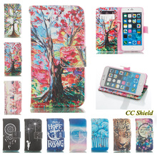 For Apple iphone 6 plus i phone 6plus Case Luxury fashion painted wallet card slotted mobile phone holster for iphone6 plus Bag