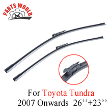 26''+23'' Pair Windscreen Front Wiper Blades For Toyota Tundra 2007 Onwards Fit Windshield Natural Rubber Wipers Car Accessories