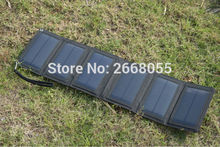 Solarparts 5.5V/10W Foldable Solar Charger system solar panel battery charging cell with USB for outdoor camp Mountaineer phone