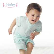 i-baby Baby Romper Newborn Clothes Boy Girl Rompers 100% PIMA Cotton Short Sleeve Romper Jumpsuits Baby's Sets Solid(China)