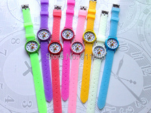100pcs/lot Cartoon Luminous Rubber Quartz Watch Fashion Hello Kitty Kids Girl's Boy's Watch Fast Delivery Hot Sale(China)