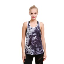 LOVE SPARK 2017 Breathable Grey leopard Print Womens Summer Sports Street Vest Plus Size S TO 4XL Running Bodybuilding Shirts