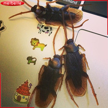 20PCS Cheap Prank Funny Trick Joke Toys Animal Fake Rubber Insects Toys Cockroaches Roaches Bug Anti-stress Toy Funny Shocker(China)