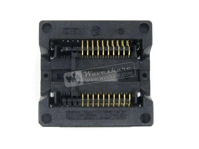 Modules SOP20 SO20 SOIC20 OTS-20(28)-1.27-04 Enplas IC Test &amp; Burn-in Socket Programmer Adapter 7.5mm Width 1.27mm Pitch<br><br>Aliexpress