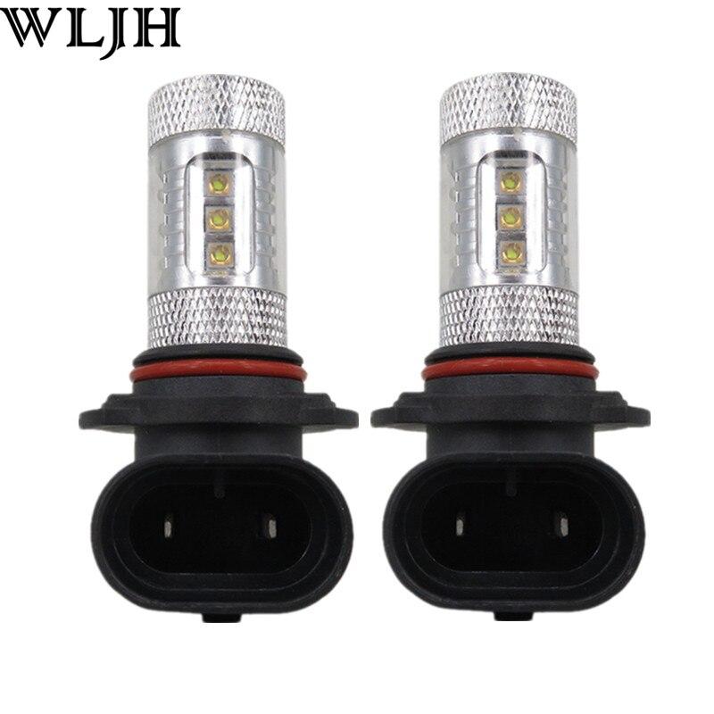 WLJH 2pcs Car Led 12v 24v 80W Power 9006 HB4 Led with Projector Lens Auto High Power Fog Light Driving Lamp Bulb<br><br>Aliexpress