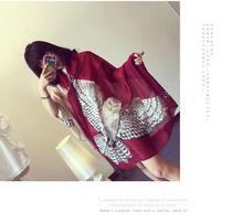2017 European fashion lady owl scarf