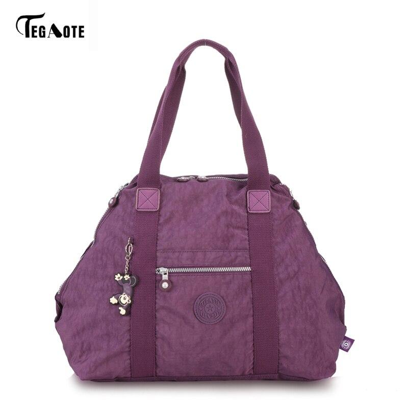 TEGAOTE Top-handle Bag Handbags Women Famous Brand Big Nylon Shoulder Beach Bag Casual Tote Female Purse Sac Femme Bolsa Feminia