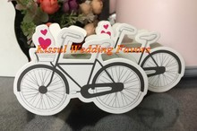 (100 Pieces/Lot) Garden Wedding Candy box of Vintage-Inspired Bicycle Favor Box For Bike Party Favor boxes and Bicycle Favors(China)