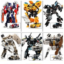 original box transformation 4 Car Robot Toys PVC Action Figure Brinquedos Car Robot Classic Model toys For Children Toys Gifts(China)