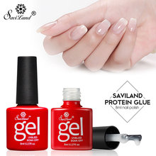 Saviland Opal Jelly Gel White Clear Milky Protein Color Gel Polish Long Lasting Gel Nail Varnish Transparent UV Gel Nail Art(China)
