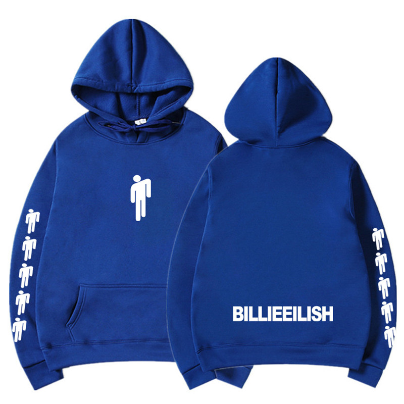 New Hot Billie Eilish Hoodie Men Black Cotton Hoodie Couple Billie Eilish Sweatshirt Simple Keep Warm Women/men Hoodie Clothes 8