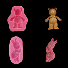 Rabbit-shaped Silicone Mold Jelly Chocolate Soap Wedding Cake Decoration Diy Kitchen Utensils Baking Tray Crafts Production(China)