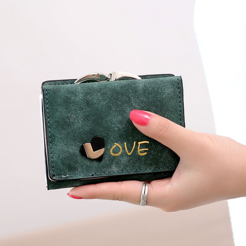 New Fashion New Brand Coin Purse Short Wallet Womens Luxury Leather Small Credit Card Holder Wallets Purse Female Ladies<br><br>Aliexpress