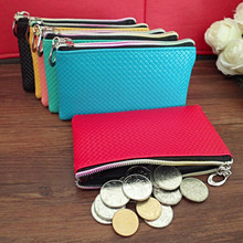 2016 high quality cheap Women coin Purse zipper handbag solid bag clutch Lady brand Cash phone card Wallets dollar price China