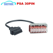 PSA 30PIN Cable For Lexia3 For Citroen/Peugeot Old Cars OBD OBD2 Lexia PP2000 30PIN to 16Pin OBD2 Connector Free Shipping