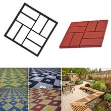 Plastic path maker mold manually paving cement brick stone road DIY mold 40*40*4cm