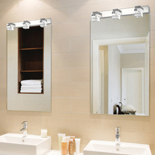 Coquimbo Bathroom Mirror Lamp 9W 100-240V AC Waterproof Crystal+Metal Wall Sconces Lighting Warm/White Lighting Wall lamp(China)
