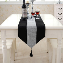 32x250CM Luxurious Velour with Diamond Decoration Table Runner Shing upscale neoclassical Wedding Decor bed runner Table Cloth(China)