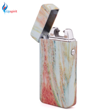 1Pcs Double Arc Lighter USB Rechargeable Electronic Cigarette Lighter Flameless Windproof Lighter Novelty Gadgets for Men