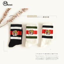 Buy High Perfect Autumn Warm Women Men Tiger Head Patterned Socks Comfortable Striped Cartoon Animal Cotton Socks Morewin for $5.81 in AliExpress store
