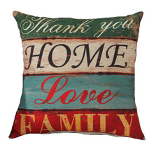 Fashion Home Cushion Without Inner Letter Printed Polyester Decor Sofa Car Seat Decorative Throw Pillow Housse De Coussin 45cm