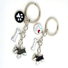 Buy Standard Schnauzer pendant key chains men women girls silver color alloy metal pet dog charm bag car keychain key ring 2017 for $3.12 in AliExpress store