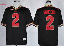 Nike Florida State Seminoles (FSU) Deion Sanders 2 College Ice Hockey Jerseys -Black Size M,L,XL,2XL,3XL(China)