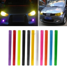 Car stickers Adhesive Sheet 0.3*1M FOR Car Headlight Tail Fog Light Tint Film Overlay JUN20_20(China)