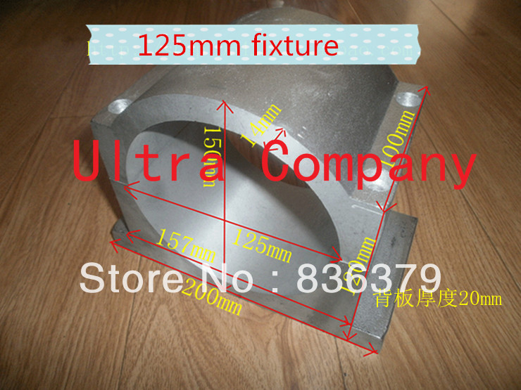 125mm spindle mount/ cnc router mounts 125mm cnc clamp, sandblasted surface, sending screws<br><br>Aliexpress