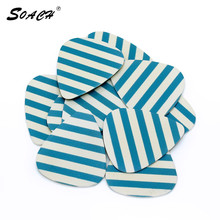SOACH 10pcs/Lot 0.71mm thickness guitar strap guitar parts Accessories Stripes personalized guitar picks(China)