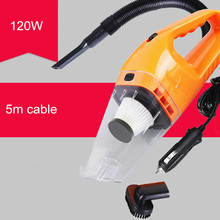 12V 120W Super Suction Car Vacuum Cleaner High-Power Wet & Dry Portable Handheld Dust Collector Aspirador de po Cleaner