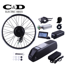 E-bike Kit Electric Bike Conversion Kit 48V 500W BPM Geared  Motor MXUS 48V 13AH Lithium Li-ion Bottle Hailong battery LCD LED