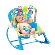 Free shipping blue electric baby bouncer swing rocking chair musical toddler rocker vibrating chair(China)