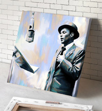 FRANK SINATRA  oil painting--2015 HOME LIVING ROOM TOP art --100% hand painted WORK--- 24 inches-free shipping cost