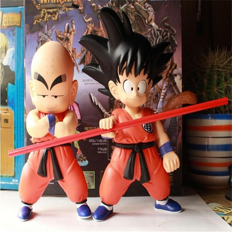 2pcs/set Q Version Dragon Ball Z Super Cute Son Goku Kuririn Action Figures Toys PVC Model Collection Doll Toys Kids Best Gifts<br><br>Aliexpress