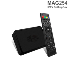 10PCS Original MAG254 Linux Arabic Europe Channels IPTV Box 4K Full HD Strong Tv Box MAG 254 Set Top Box With USB Wifi Free DHL(China)
