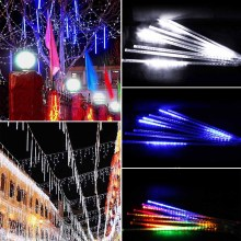 Multi-color 50CM Meteor Shower Rain Tubes AC100-240V LED Christmas Lights Wedding Party Garden Xmas String Light Outdoor(China)