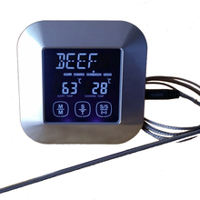 Touch Screen LCD Digital Kitchen Food Cooking Meat BBQ Thermometer and Timer for Oven Turkey/Grilling/Frying/Roasting/Water/Milk