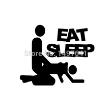 JDM Eat Sleep Sex Vinyl Funny Cool Graphic Sticker For Car Truck Window Bumper Auto SUV Door Motorcycle Helmet Ship Wall Decal