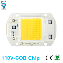 Buy 110V 127V COB Chip Bulb 20W 30W 50W LED COB Chip Lamp Input Smart IC Driver Fit DIY LED Floodlight Spotlight Cold Warm White for $1.84 in AliExpress store