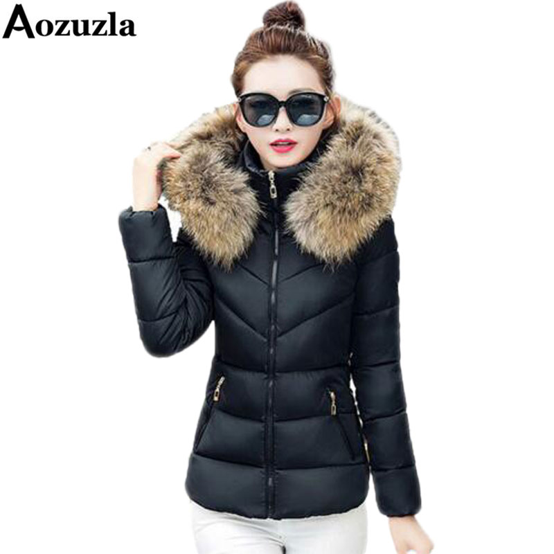 Plus Size Faux Fur Collar Women Jackets Coat New 2017 Cotton Wadded Warm Winter Hooded Thick Parka Fashion Female Outerwear Y420Одежда и ак�е��уары<br><br><br>Aliexpress