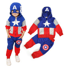 Children's Tracksuit Clothing New 2016 Autumn United States Team Leader Sports and Leisure Suit Hooded Two Pieces Clothes CLS060