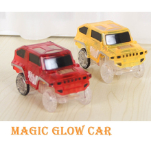 Glowing Racing Set for Kids LED Light Up Magic Cars Electronics Car Toys With Flashing Lights Fancy DIY Toy Cars For Kid FS1535