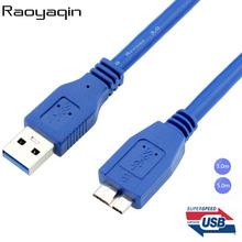 New arrival High quality and speed Blue color AM-MICRO B USB 3.0 USB line USB 3.0 AM to MICRO B Cable 3M 5M(China)